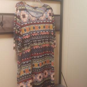 Women's multicolored sweater dress